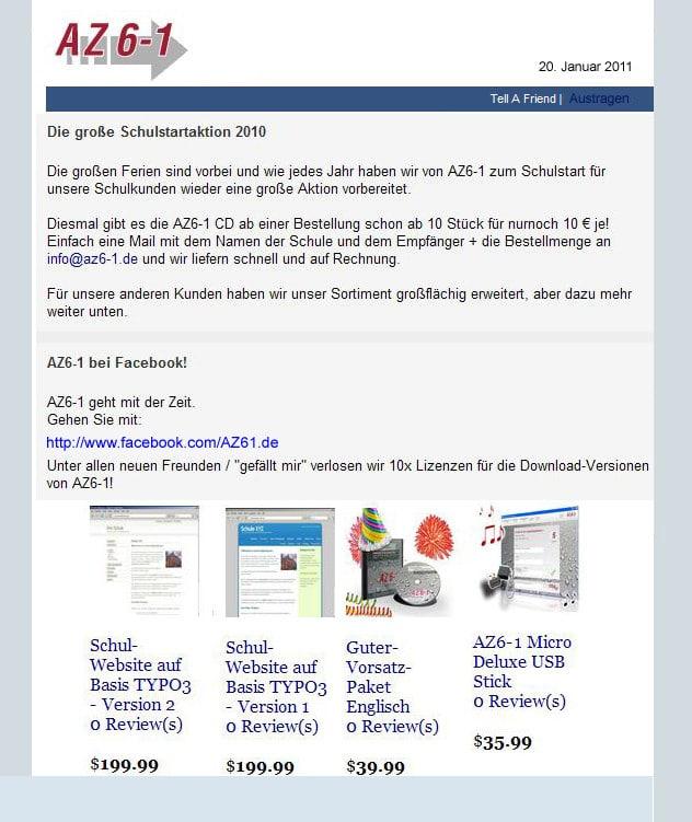 Newsletter Online Marketing Berater E Commerce Consultant