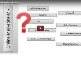 Online Marketing Konzept Buchvorstellung multimedial