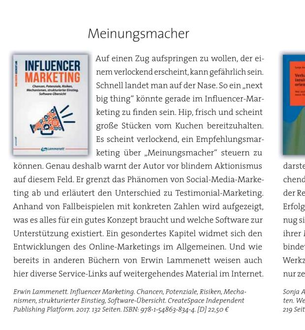 Rezension Influencer Marketing Buch In Fundraising Magazin