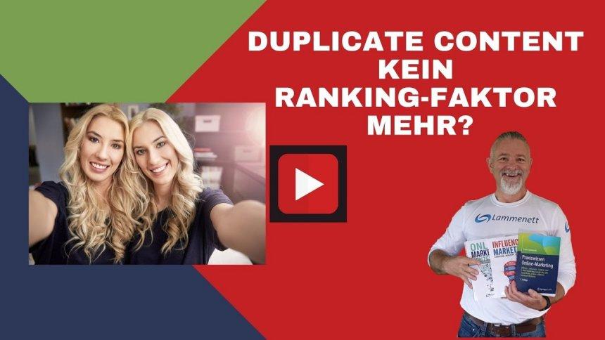 Duplicate Content kein Ranking-Faktor?