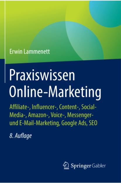 Parxiswissen Online-Marketing, 8. Auflage erschienen, Lammenett, Erwin, Springer, 2021